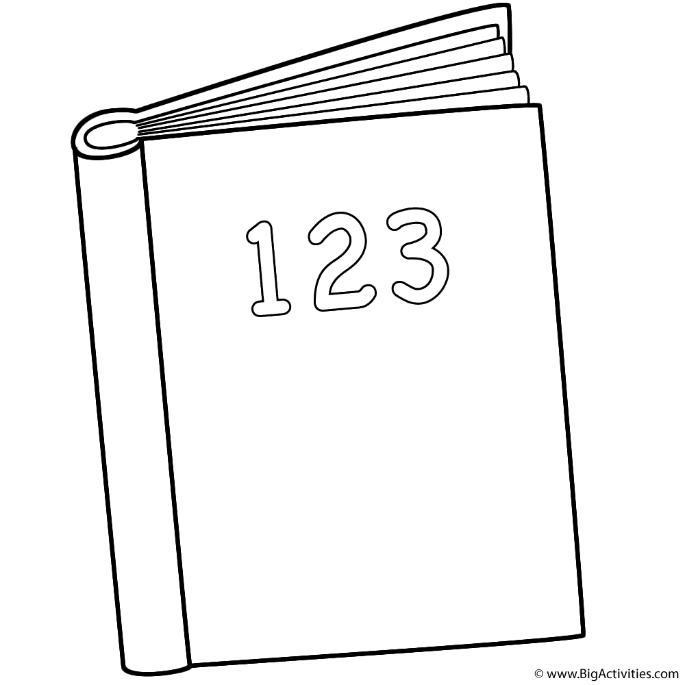 123 Book Coloring Page 100th Day Of School Coloring Pages Booklet