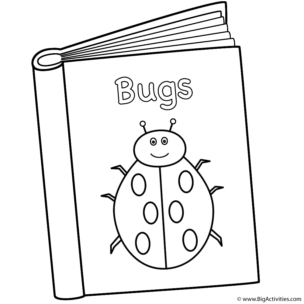 bugs book coloring page 100th day of