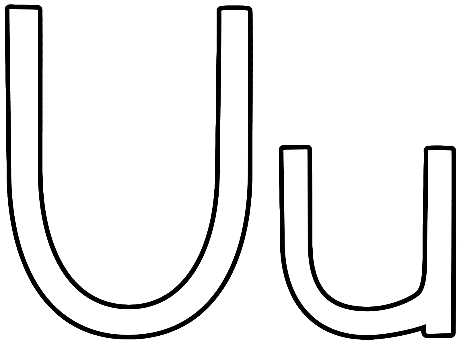 letter u  coloring page alphabet, coloring pages