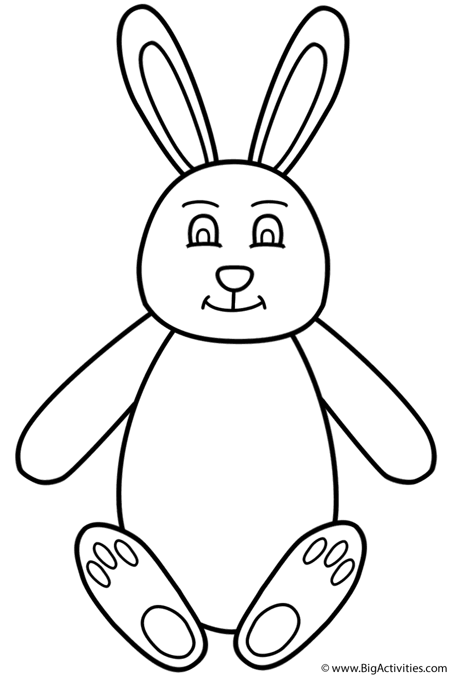 bunny sitting coloring page animals