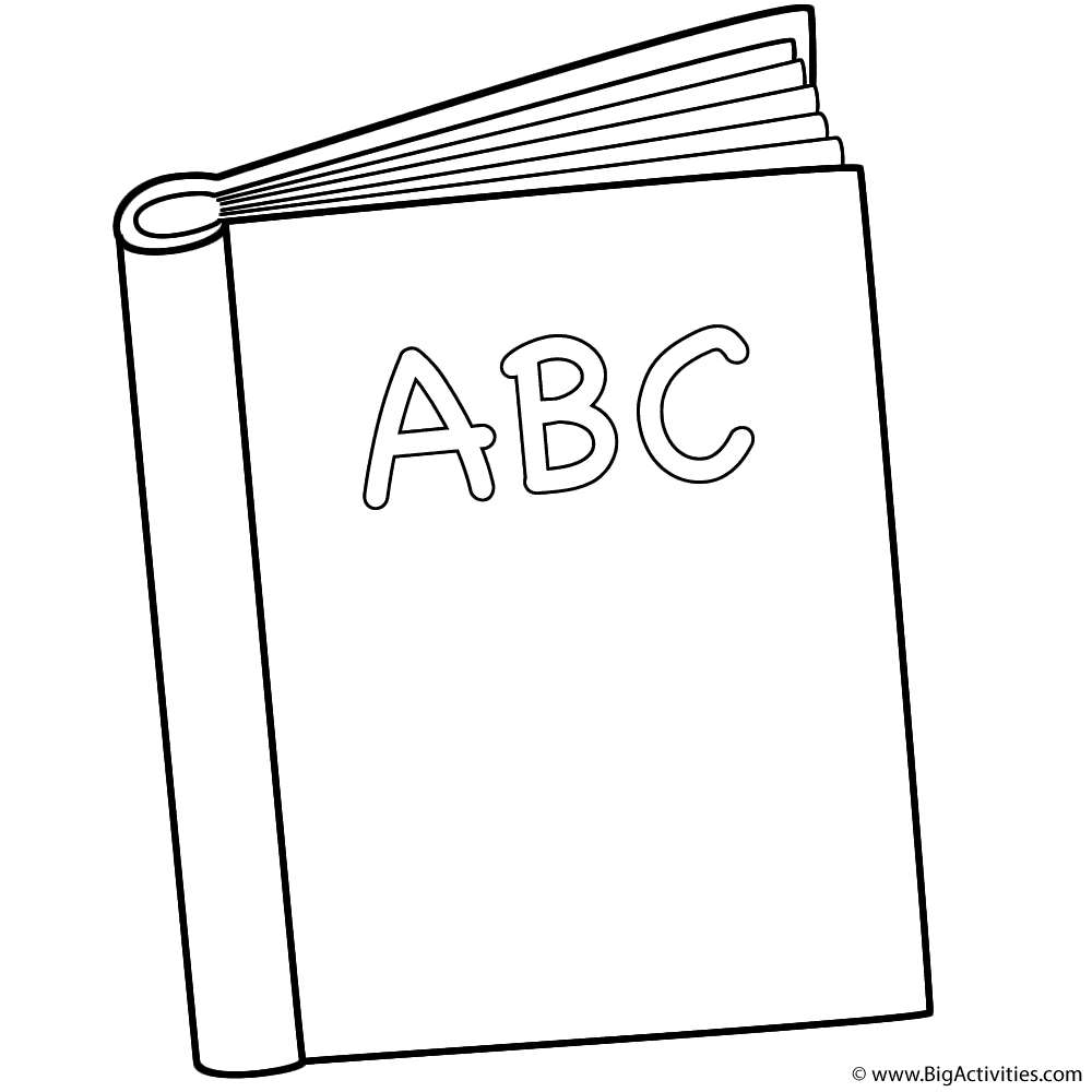 Abc book coloring page back to school for Printable alphabet book template