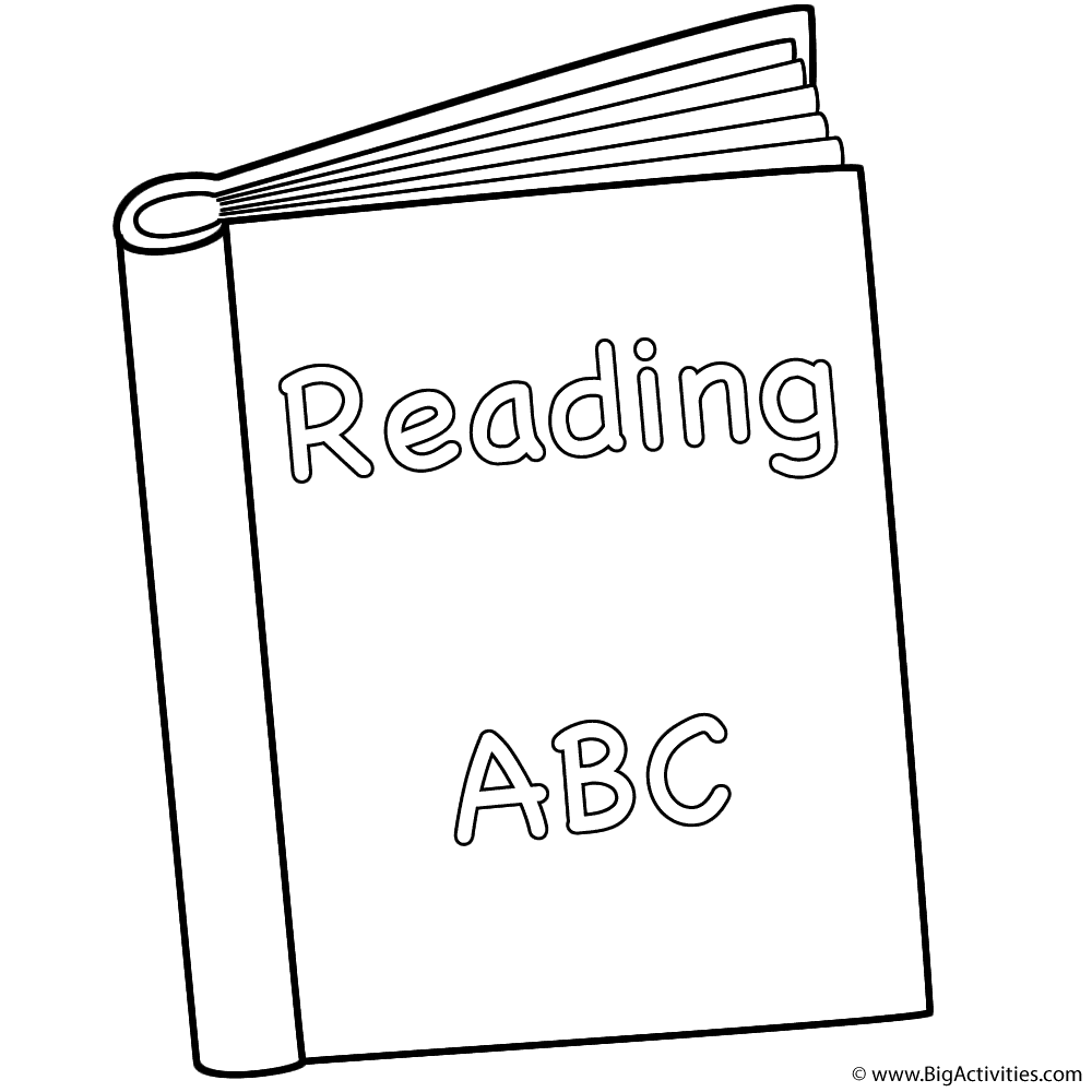 Reading Book Coloring Page Back To School Coloring Pages Booklet