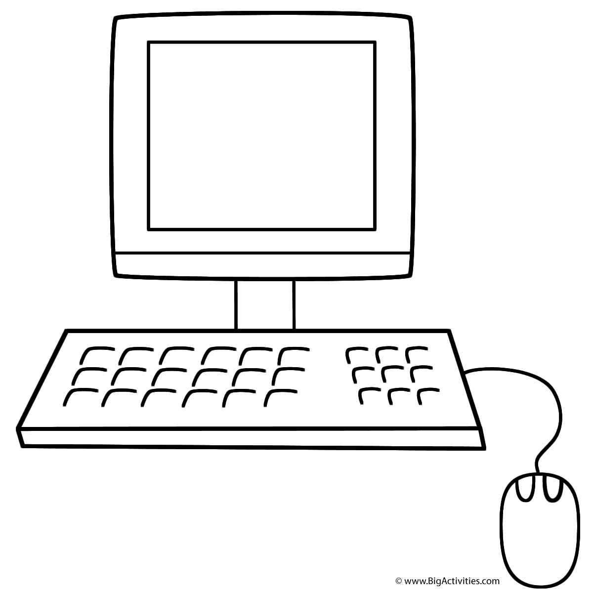 Coloring Pages Coloring Pages On Computer computer coloring page back to school