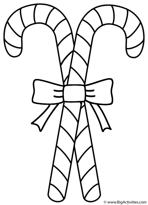 large candy cane coloring pages - photo#20