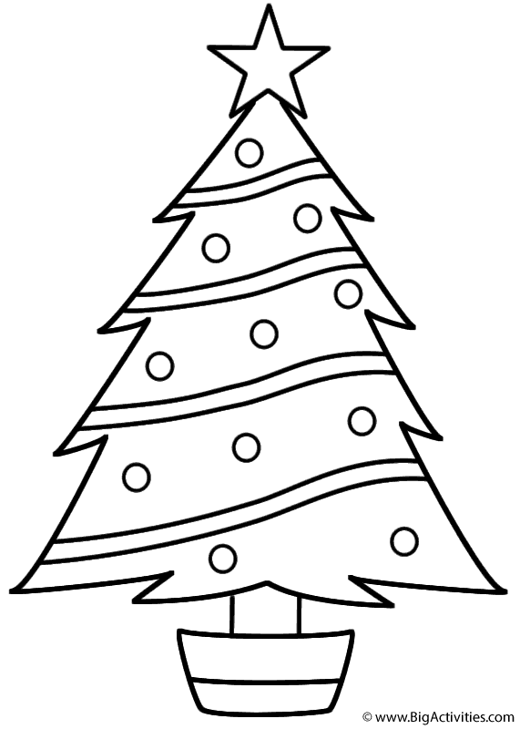 Christmas Tree Coloring Page Free Free Christmas Tree Template ... | 800x571