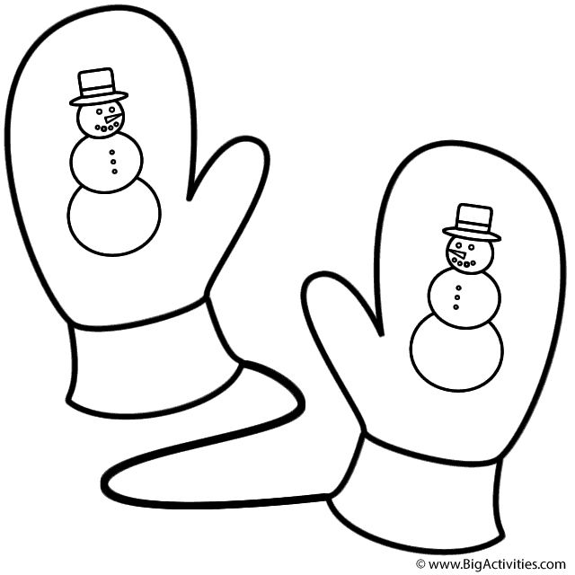 large coloring pages for mittens | Mittens Coloring Pages
