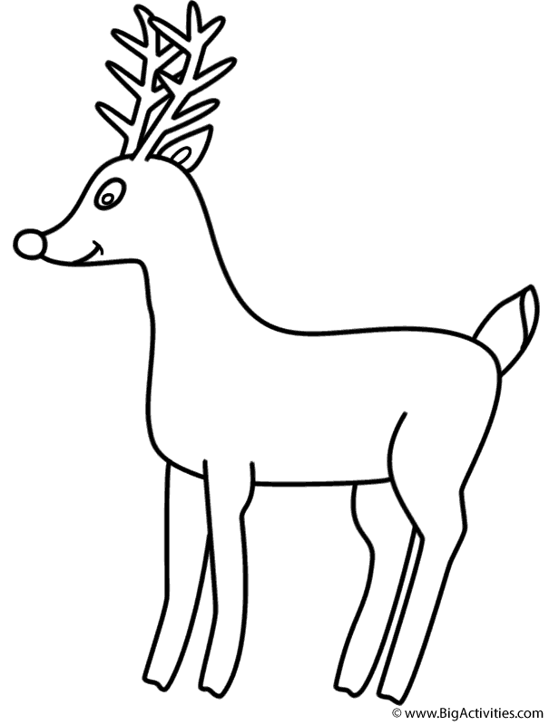 rudolph the red nosed reindeer coloring page christmas