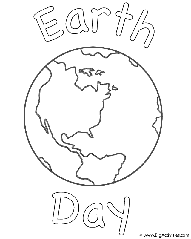 coloring pages for earth day - photo#21