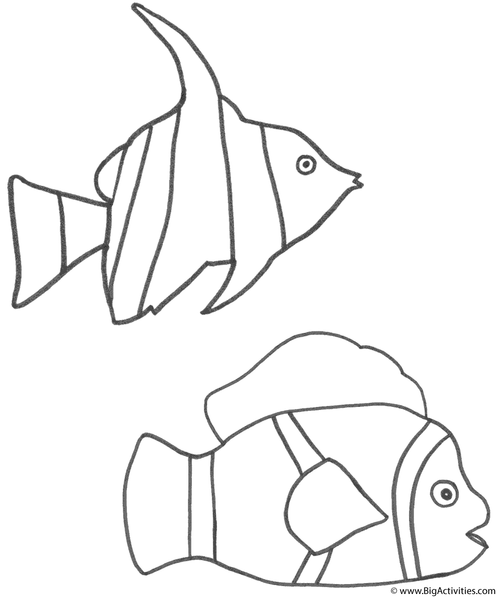 Clown Fish Coloring Pages Printable - ColoringBay | 1200x1000