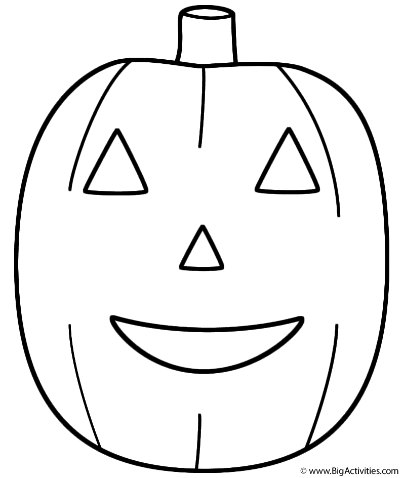 PumpkinJack o Lantern Coloring Page Fruits and Vegetables