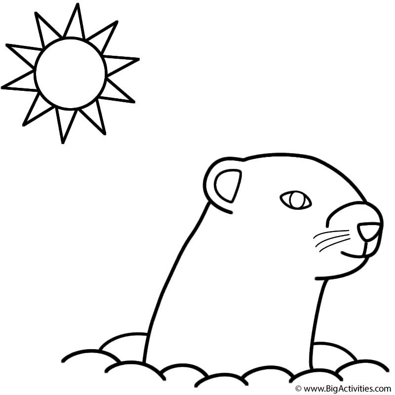 Groundhog Day Coloring Page Groundhog Day