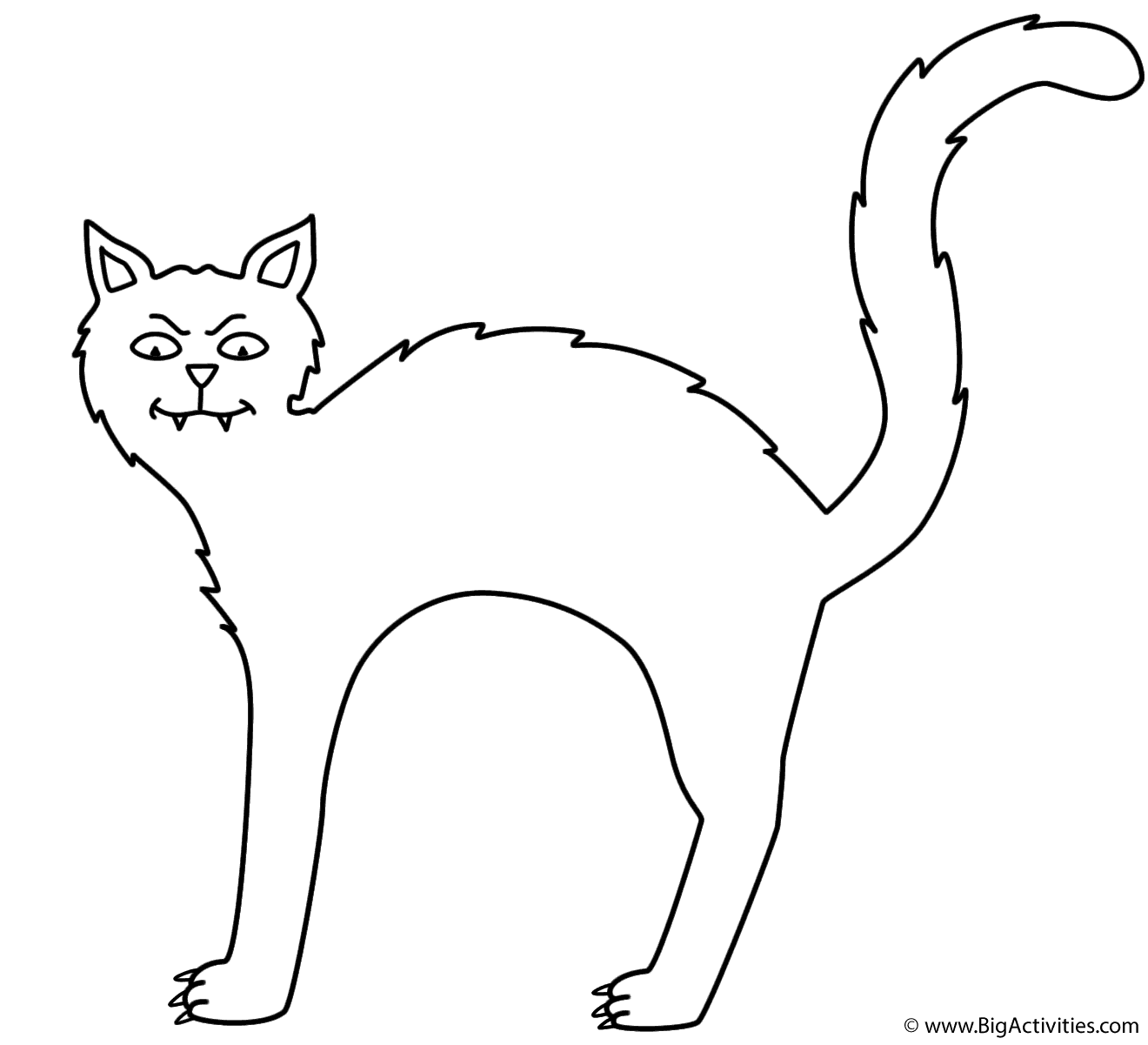black cat coloring pages Black cat   Coloring Page (Halloween) black cat coloring pages