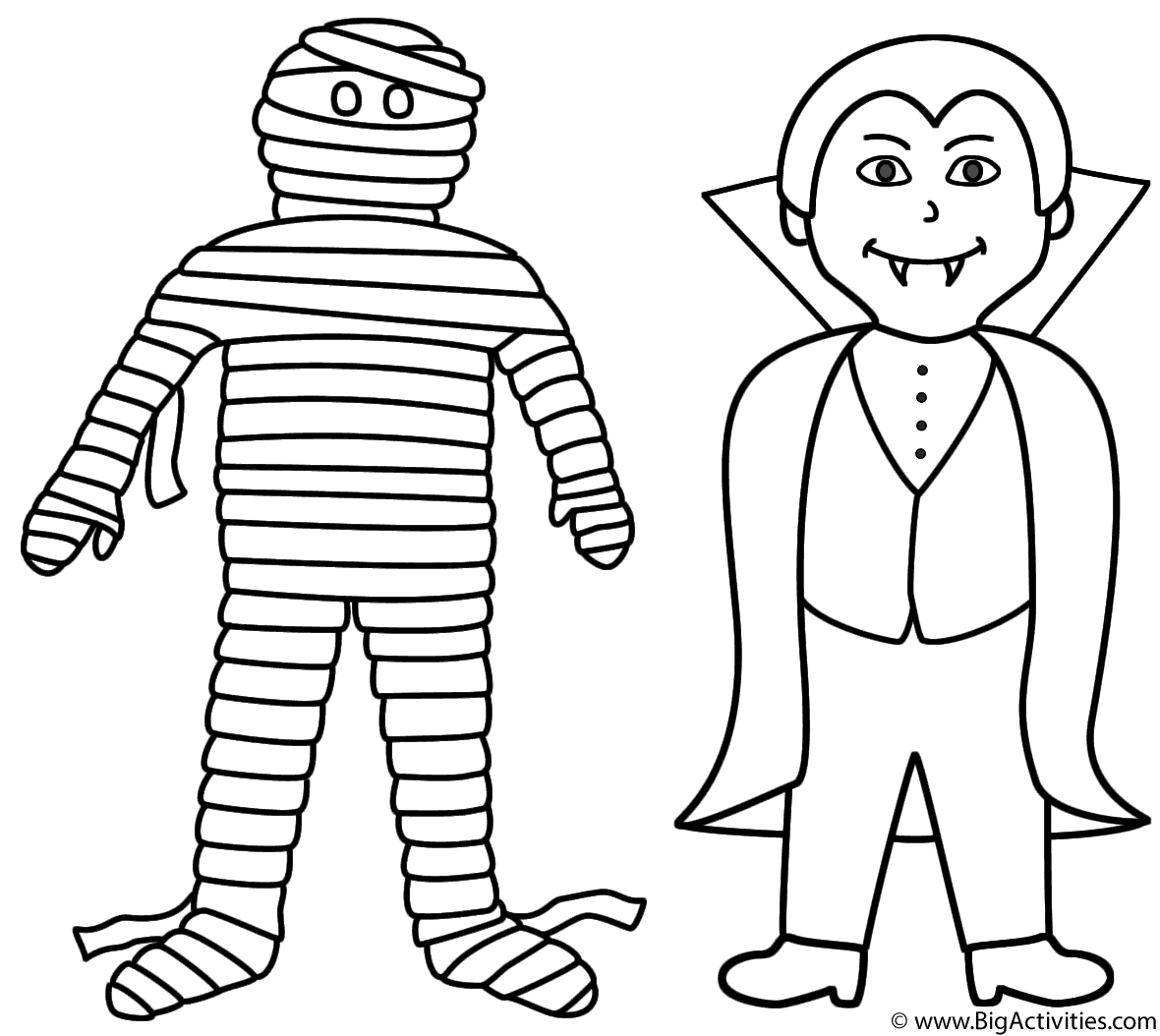 halloween mummy coloring pages - photo#12
