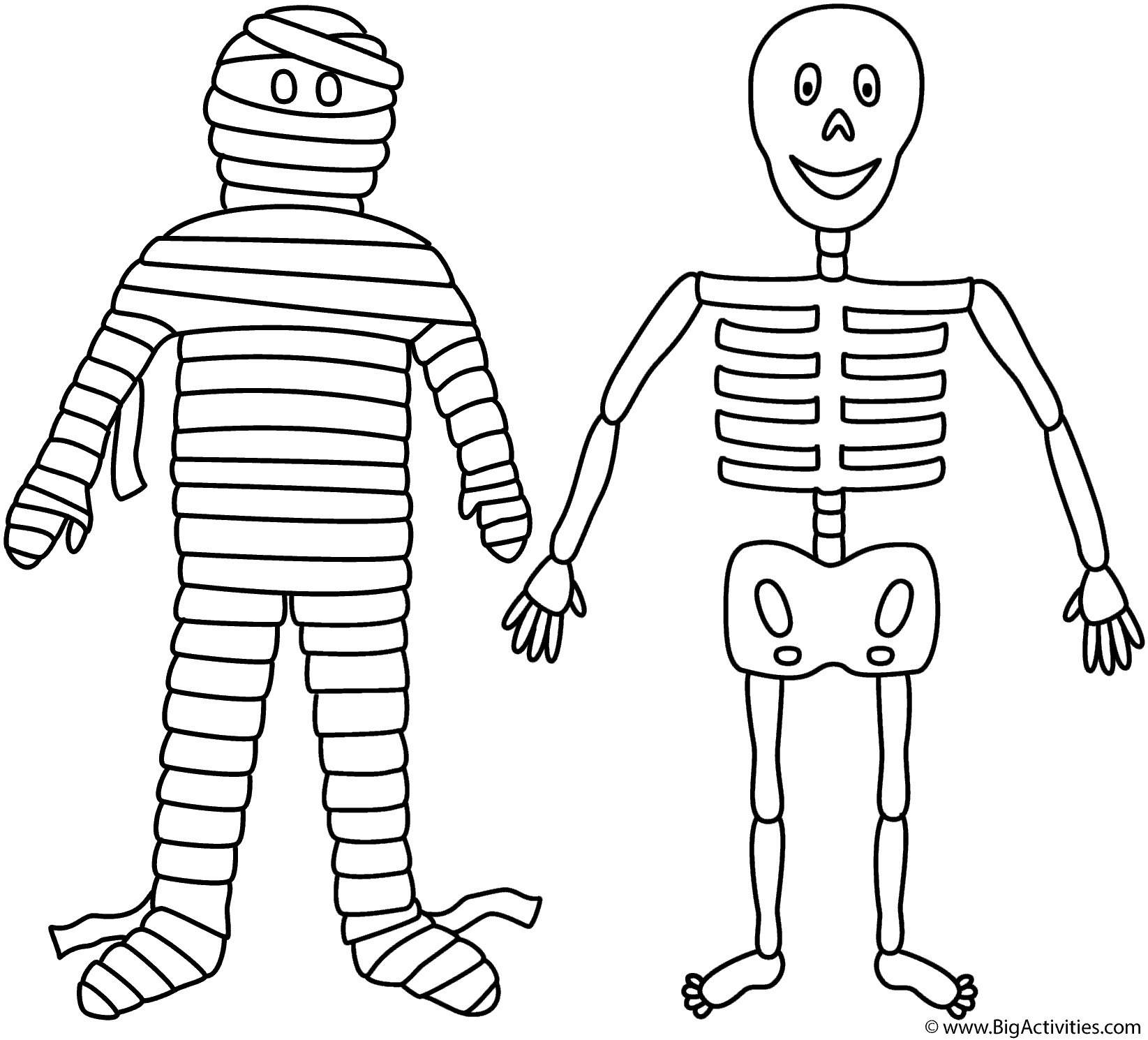 halloween mummy coloring pages - photo#32