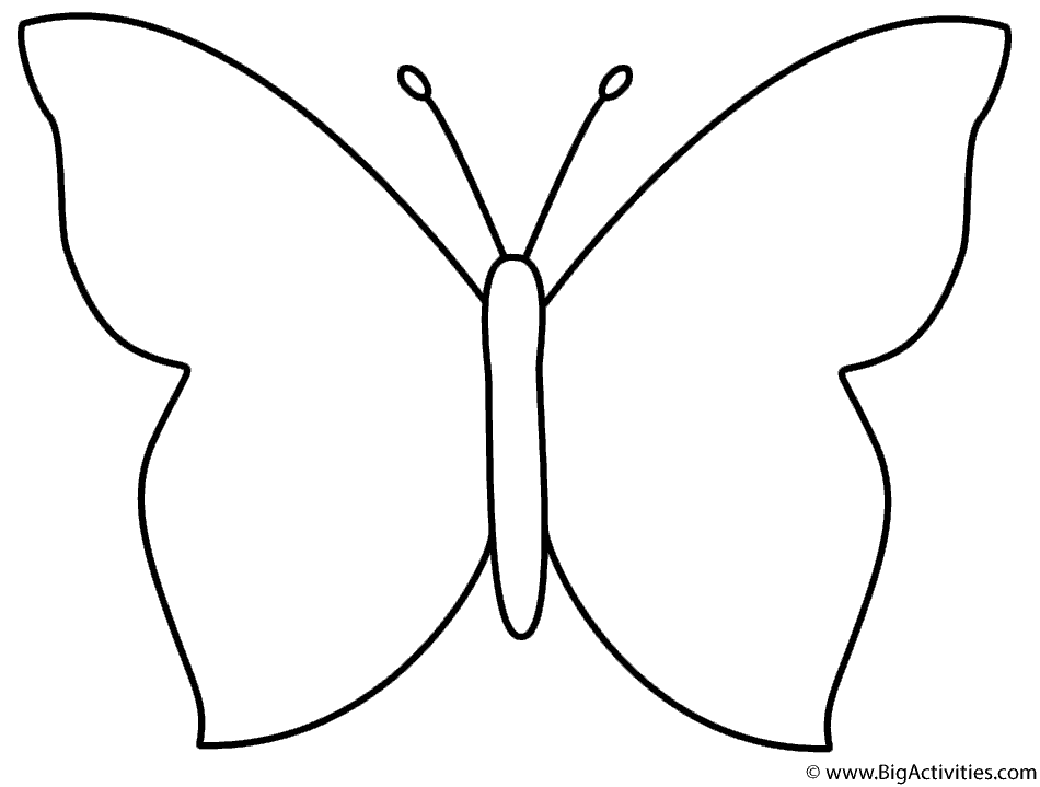 Simple Butterfly Coloring Page Insects Butterfly Coloring Pages