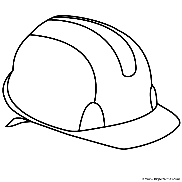 Hard Hat Coloring Page Labor Day