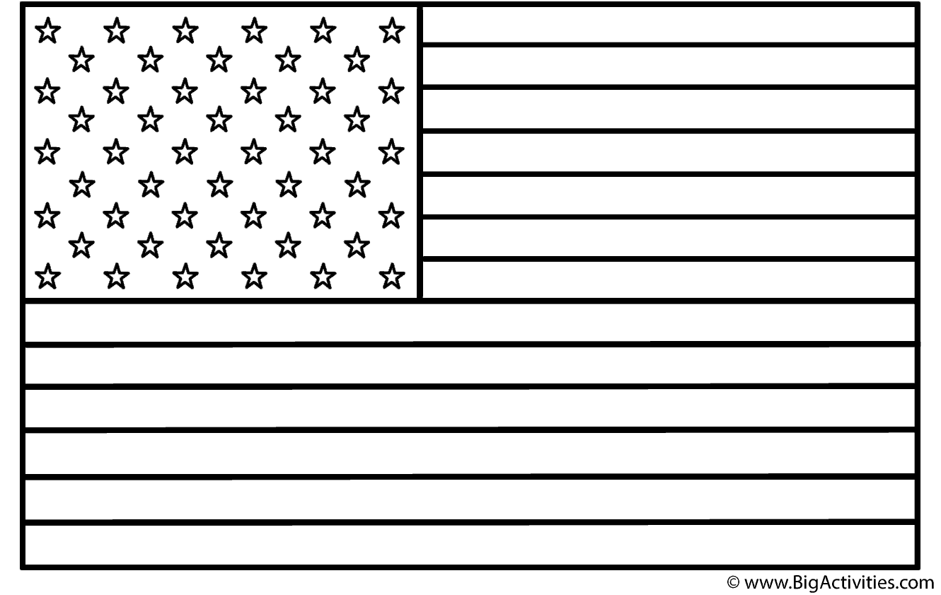 Memorial day flag coloring pages - Memorial Day Flag Coloring Pages 0