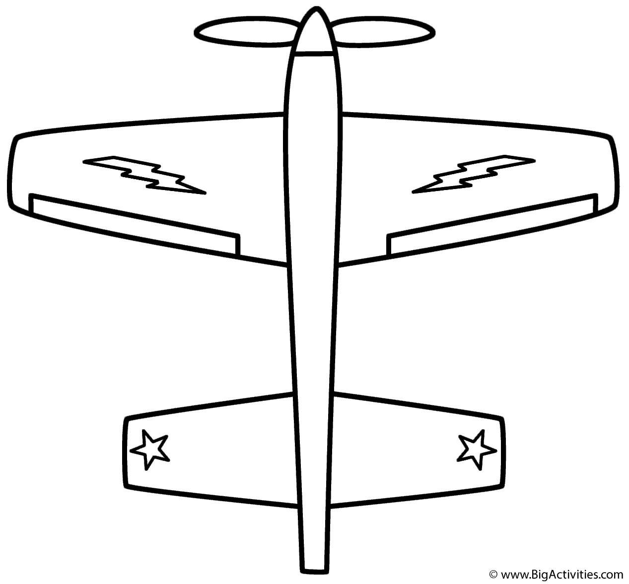 airplane coloring page military