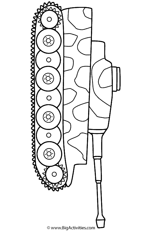 Tiger Tank With Camouflage Coloring Page Military
