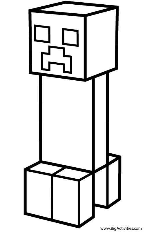 Creeper Coloring Page Minecraft