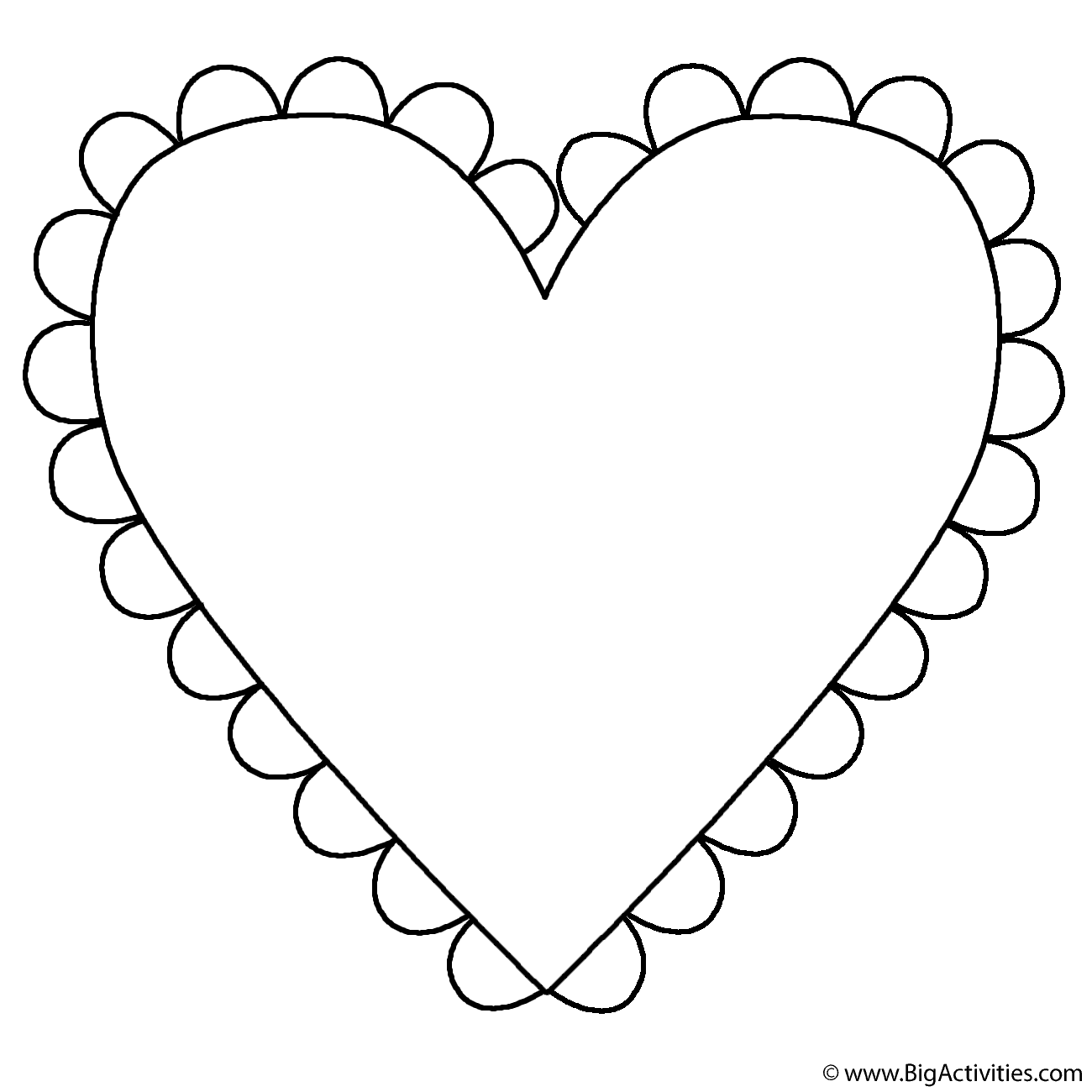 heart with fringe coloring page mother u0027s day