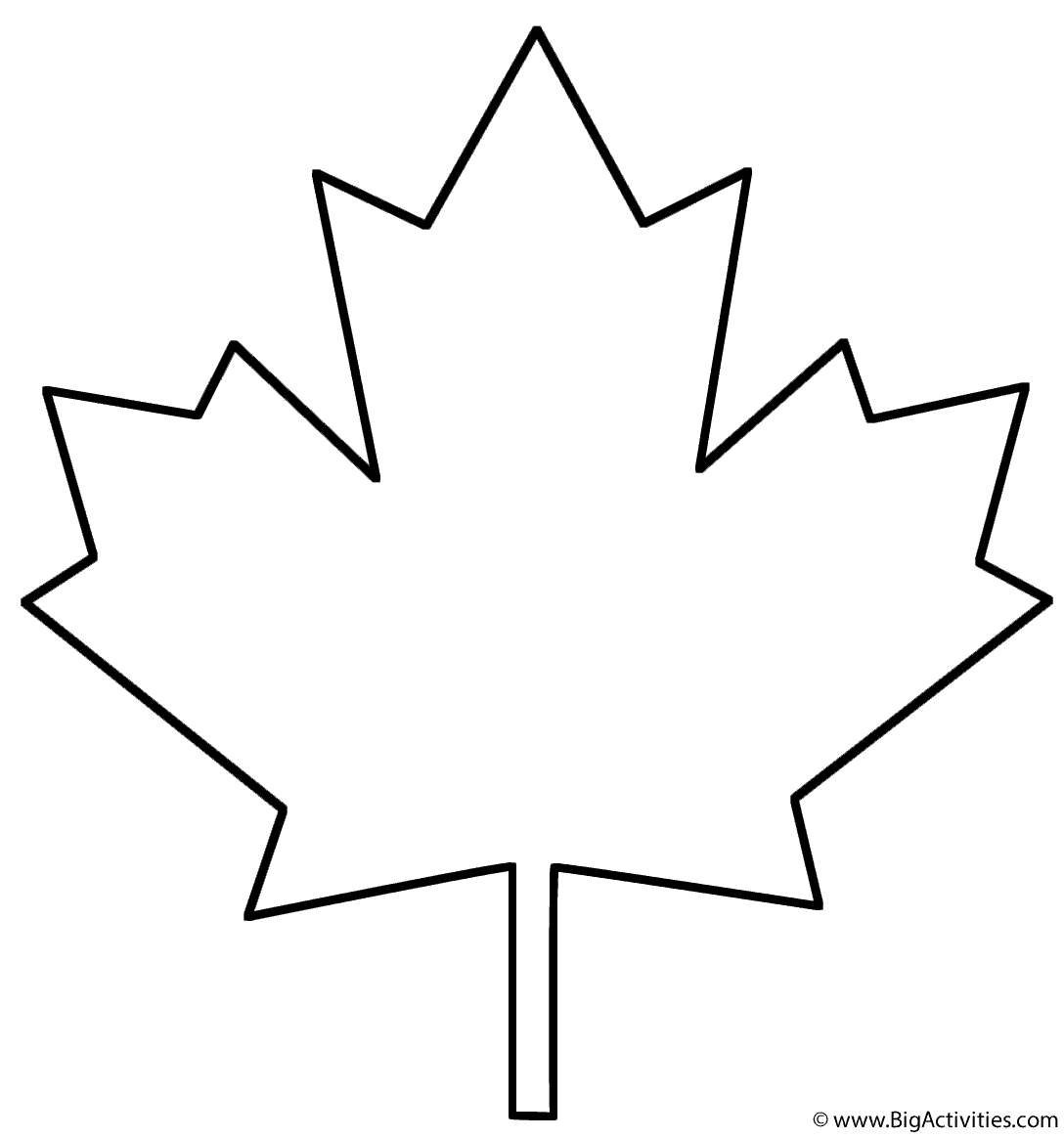 Maple Leaf - Coloring Page (Plants)