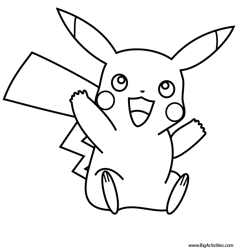 pikachu coloring page pokemon