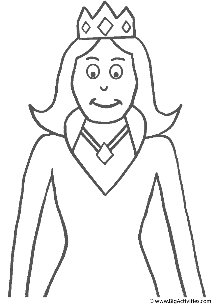queen coloring page royalty