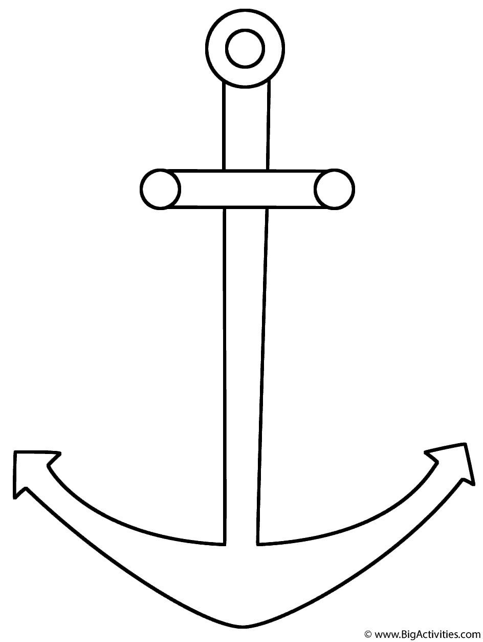 anchor coloring pages Anchor   Coloring Page (Sea/Marine) anchor coloring pages