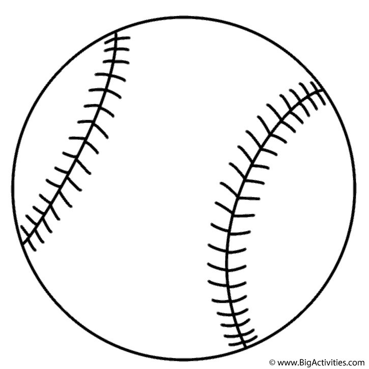 Baseball coloring page sports for Softball coloring pages to print