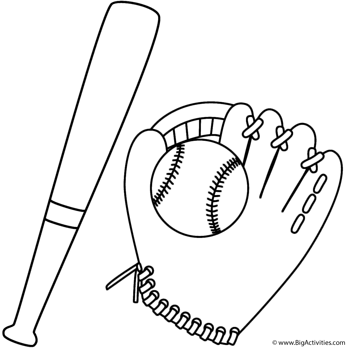 baseball bat coloring pages - photo#8