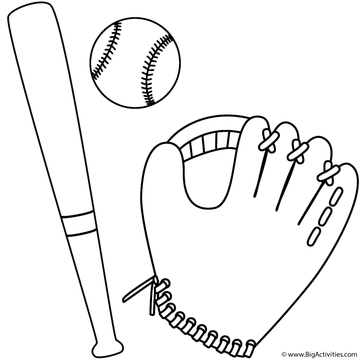 baseball bat coloring pages - photo#19