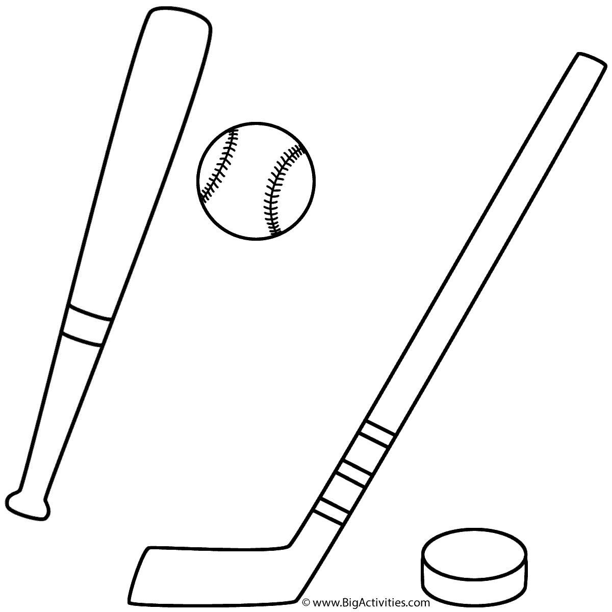 baseball and hockey coloring page sports. Black Bedroom Furniture Sets. Home Design Ideas