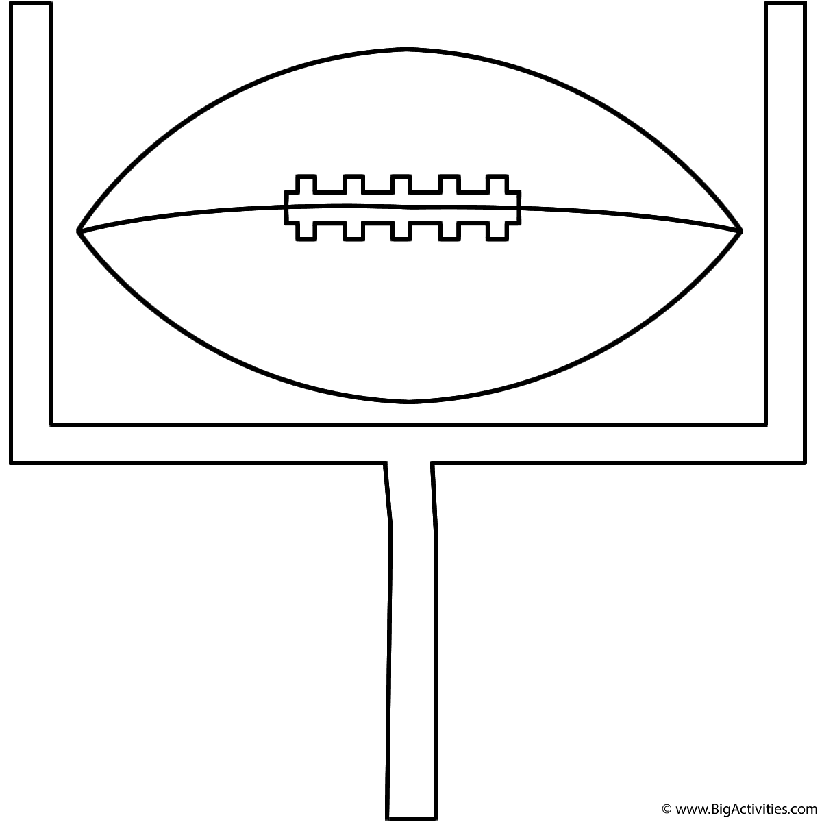 football on goal post coloring page sports