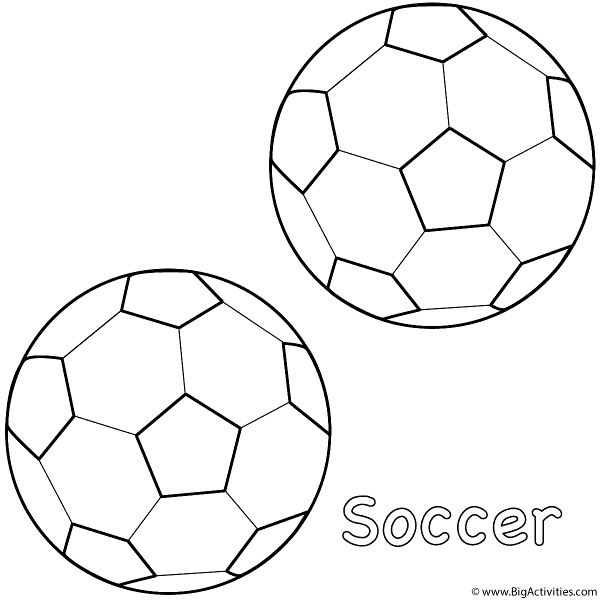 Soccer ball craft ideas - Coloring Page