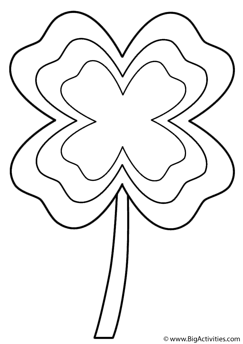 Four Leaf Clover Multi Border Coloring