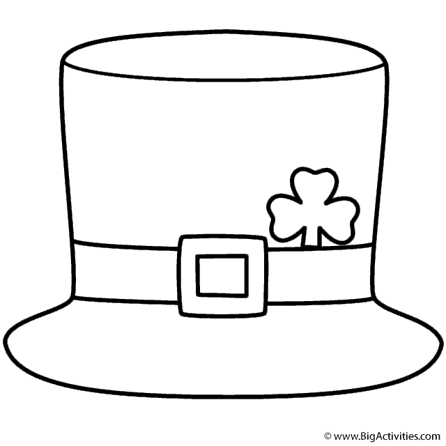 Epic image in leprechaun hat printable