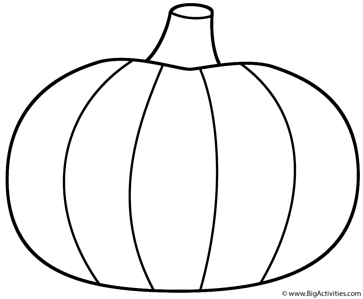 Pumpkin Coloring Page Pumpkin  Coloring Page Thanksgiving