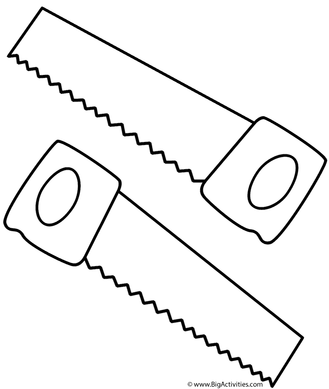 Saws coloring page tools for Tools coloring page