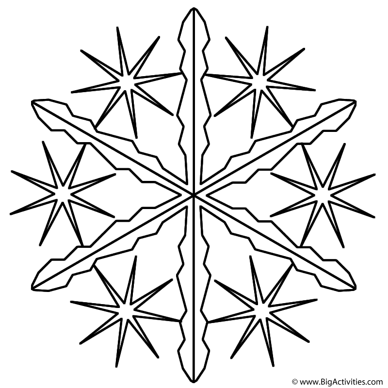 snowflake 2 coloring page winter christmas - Christmas Snowflake Coloring Pages