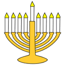 photograph regarding Menorah Printable known as Menorah - Paper craft (Recommendations)