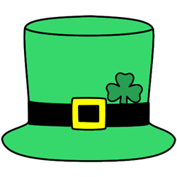 Zany image for leprechaun hat printable