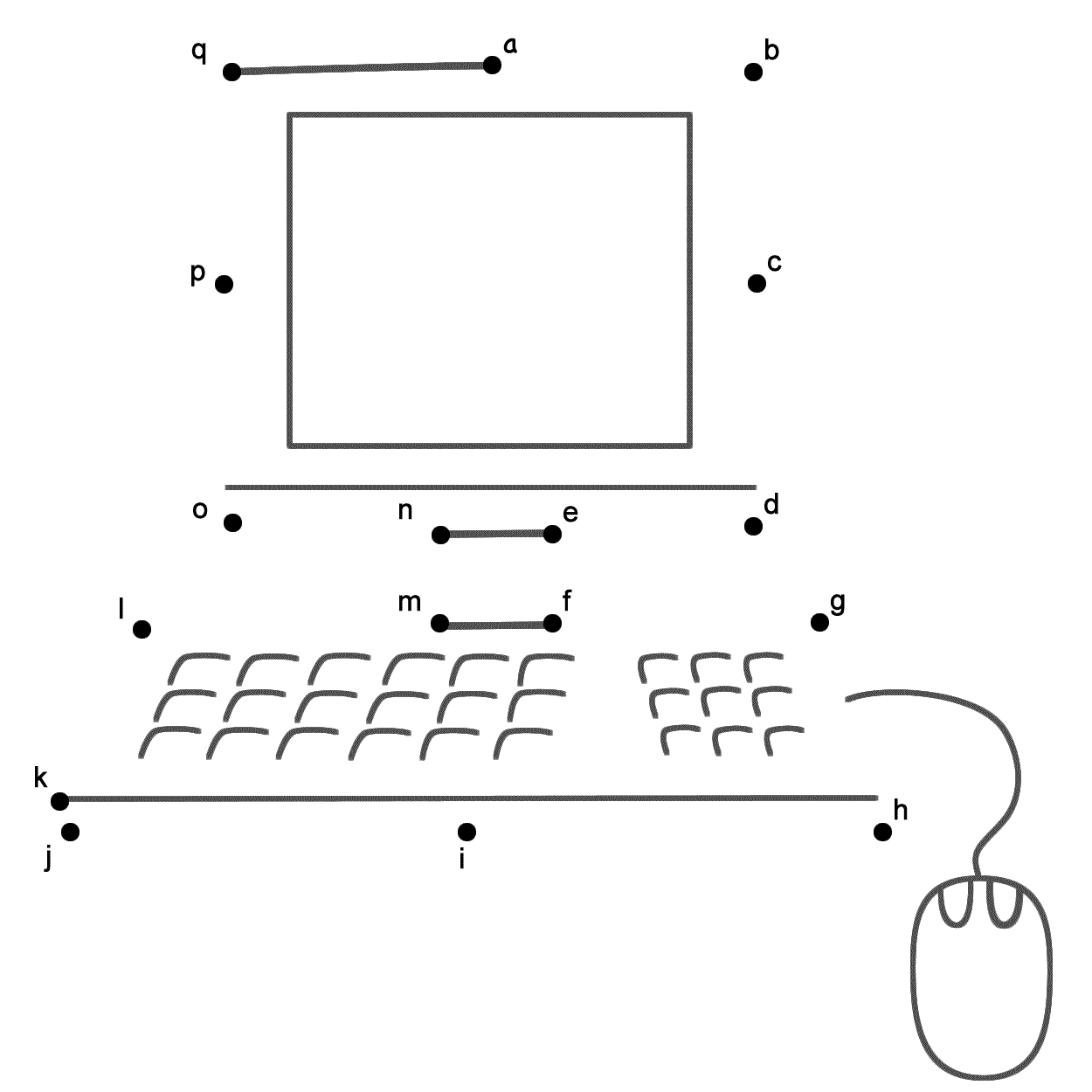 Computer Connect the Dots by Lowercase Letters Back to School – Parts of a Computer Worksheet