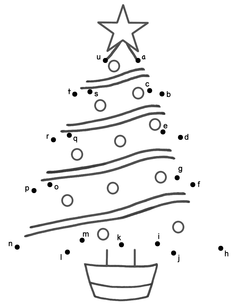 christmas tree connect the dots by lowercase letters christmas