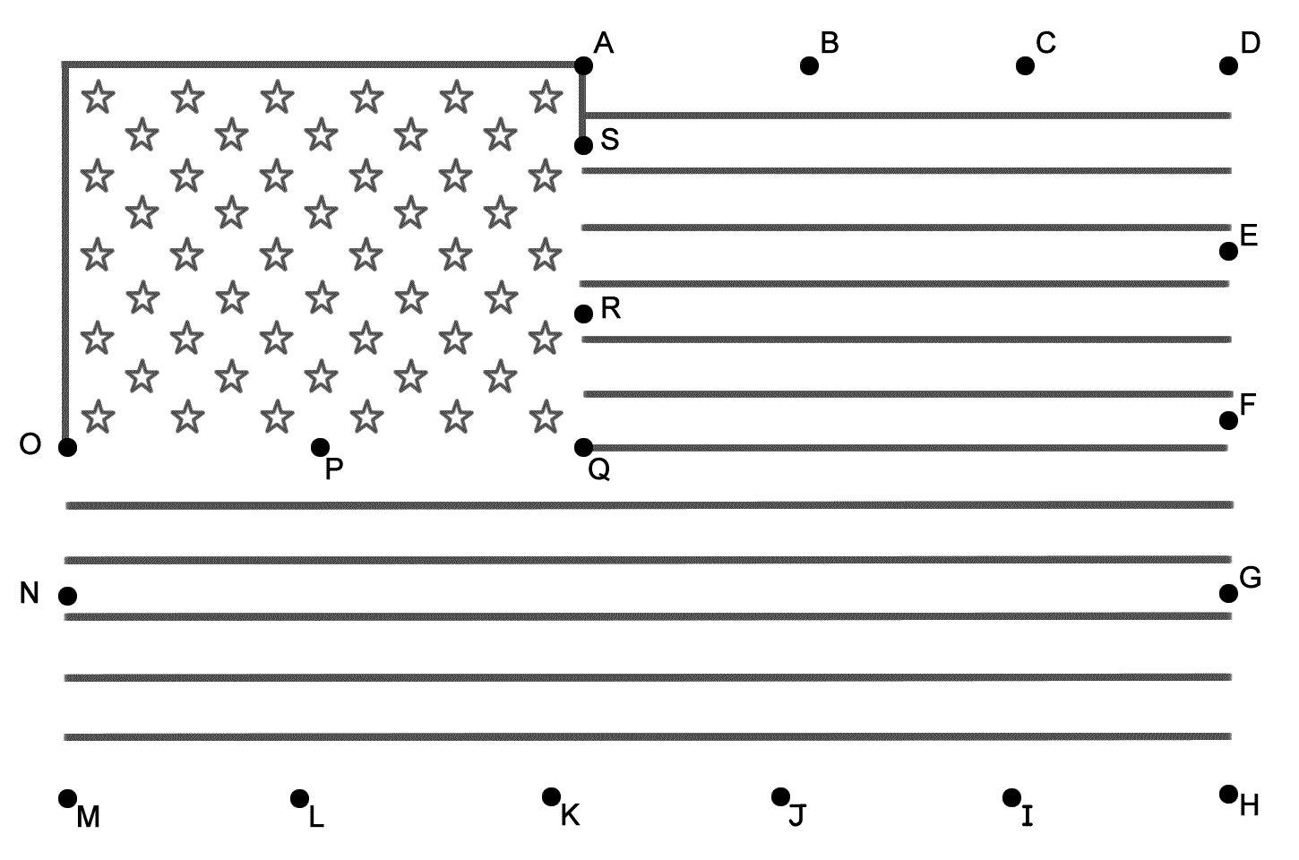 American Flag Connect the Dots by Capital Letters Presidents Day – Presidents Day Kindergarten Worksheets