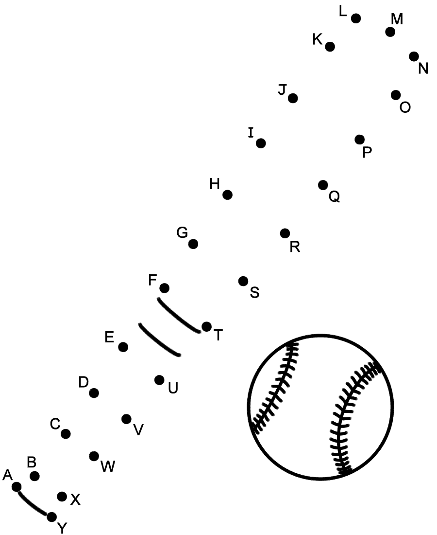 Baseball - Connect the Dots by Capital Letters (Sports)