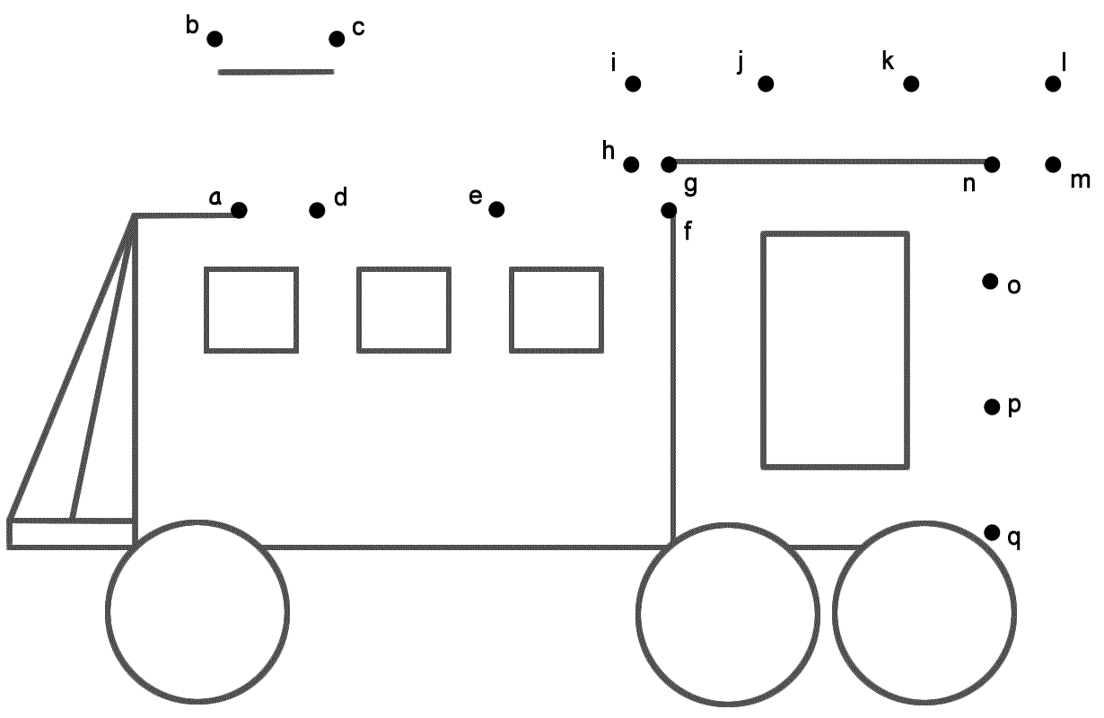 Train 2 Connect The Dots By Lowercase Letters