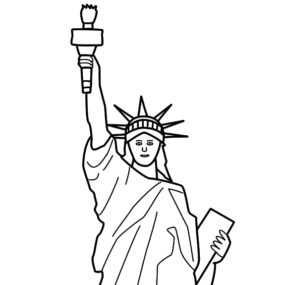 statue of liberty story starters for kids memorial day